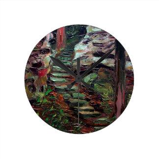Kenneth_Cobb_landscapesketch_2001_OilonBoard_9inx1 Round Clock