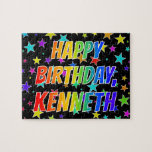"[ Thumbnail: ""Kenneth"" First Name, Fun ""Happy Birthday"" Jigsaw Puzzle ]"