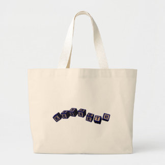 Kenneth Toy blocks in blue Tote Bags