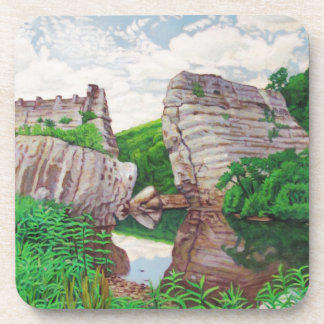 KennethCobb_Cycle_2012_OilonCanvas_24x18in_8_300dp Drink Coasters