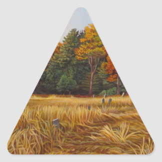 KennethCobb_Fallbrook_2012_OilonCanvas_24x36in_8_3 Triangle Sticker