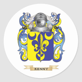 Kenny Coat of Arms (Family Crest) Classic Round Sticker
