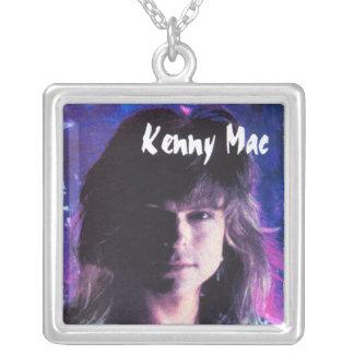 Kenny Mac Head Shot Square Pendant Necklace