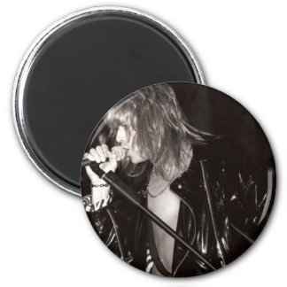 Kenny Mac  Live Black and White Refrigerator Magnet