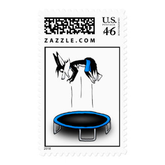 Kenny on trampoline postage stamps