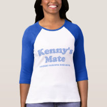Kenny's Mate Blue Floral Pattern T-Shirt