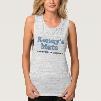 Kenny's Mate Blue Paisley Pattern Muscle Tank Top