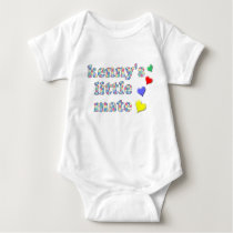 Kenny's Mate Patchwork Pattern Baby Suit Baby Bodysuit