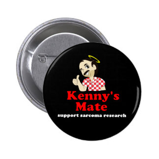 Kenny's Mate Sarcoma Research Support Badge Pinback Button