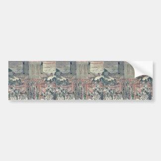 Kennyuhsan ningún ni del zu por Utagawa, Toyoharu Etiqueta De Parachoque