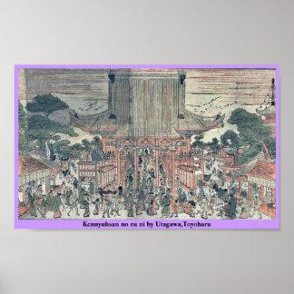 Kennyuhsan ningún ni del zu por Utagawa, Toyoharu Posters