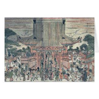 Kennyuhsan ningún ni del zu por Utagawa, Toyoharu Felicitación