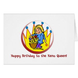Keno cards: Happy Birthday to the Keno Queen