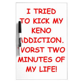 KENO Dry-Erase BOARDS
