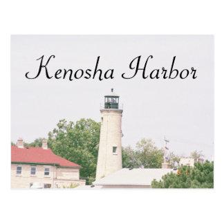 Kenosha Harbor Postcard