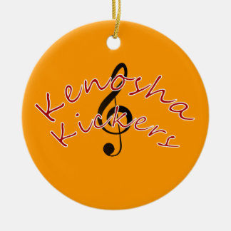 Kenosha Kickers Ceramic Ornament