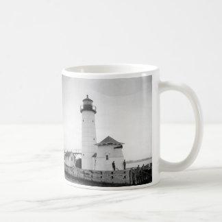 Kenosha North Pier Lighthouse Coffee Mug