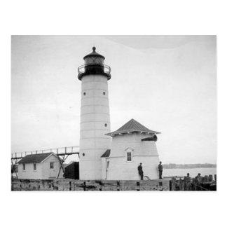 Kenosha North Pier Lighthouse Postcard