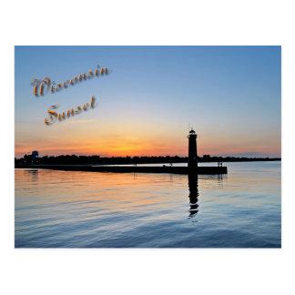 Kenosha Sunset Postcard