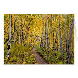 Kenosha to Breckenridge Trail Oil Painting Greeting Cards