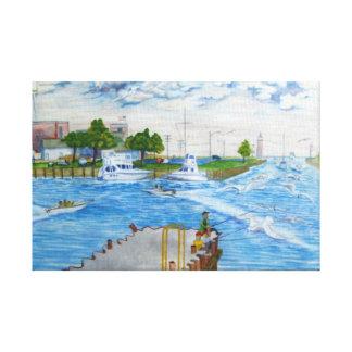 Kenosha Wisconsin Harbor Summer Time Canvas Print