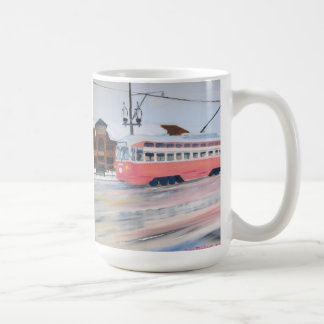 Kenosha Wisconsin Trolly in Winter Coffee Mug