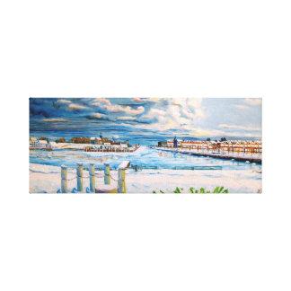 Kenosha Wisconsin Winter Harbor Canvas Print