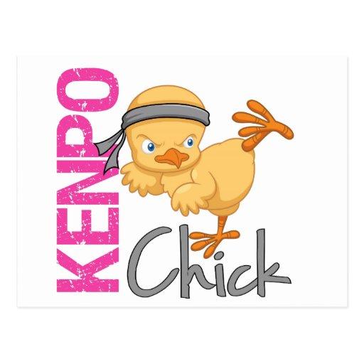Kenpo Chick Postcard