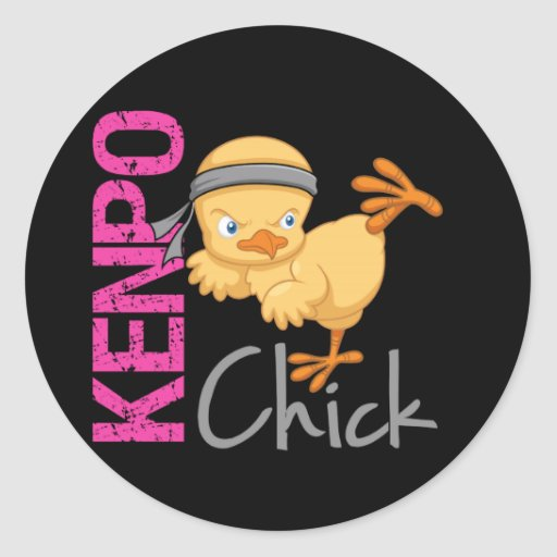 Kenpo Chick Sticker