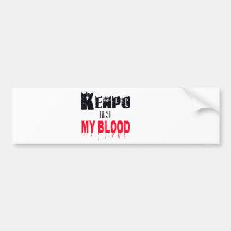 Kenpo In My Blood Car Bumper Sticker