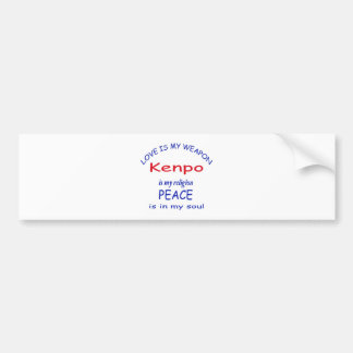 Kenpo is my religion car bumper sticker
