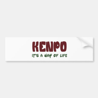 Kenpo It's a way of life Car Bumper Sticker