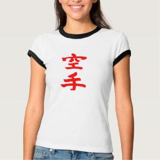 Kenpo Karate Shirt Ladies Black Ringer
