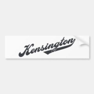 Kensington Car Bumper Sticker