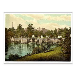 Kensington cultiva un huerto, las fuentes, Londres Tarjeta Postal