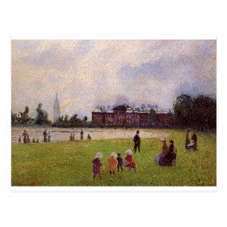 Kensington Gardens, London by Camille Pissarro Postcard