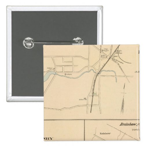 Kensington, Granby, arco iris, Poquonnock Pin Cuadrada 5 Cm