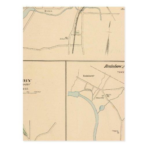 Kensington, Granby, arco iris, Poquonnock Tarjeta Postal
