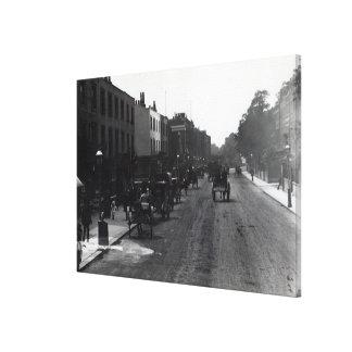 Kensington High Street, London Canvas Print