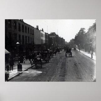 Kensington High Street, London Poster