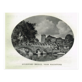 Kent, Aylesford Bridge, near Maidstone Postcard
