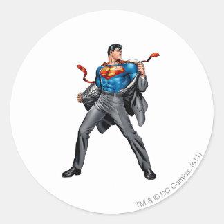 Kent cambia en superhombre pegatina redonda