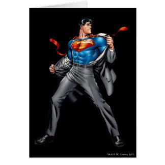 Kent cambia en superhombre tarjeta de felicitación