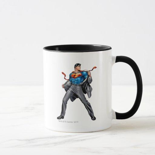 Kent cambia en superhombre taza