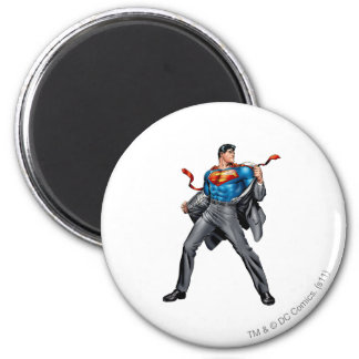 Kent changes into Superman 2 Inch Round Magnet