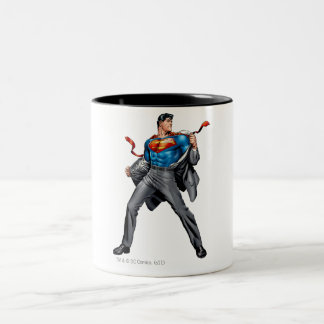Kent changes into Superman Two-Tone Coffee Mug