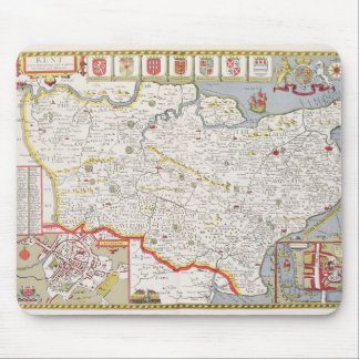 Kent, engraved by Jodocus Hondius Mouse Pad