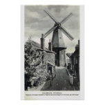 Kent histórico, molino de viento de Cranbrook Poster