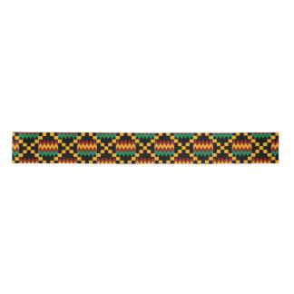 Kente amarillo, verde, rojo, negro lazo de raso