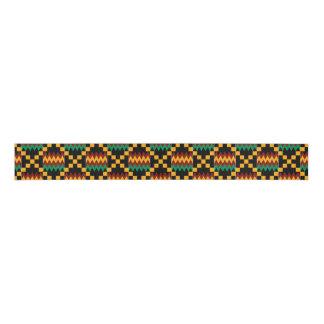 Kente amarillo, verde, rojo, negro lazo de tela gruesa